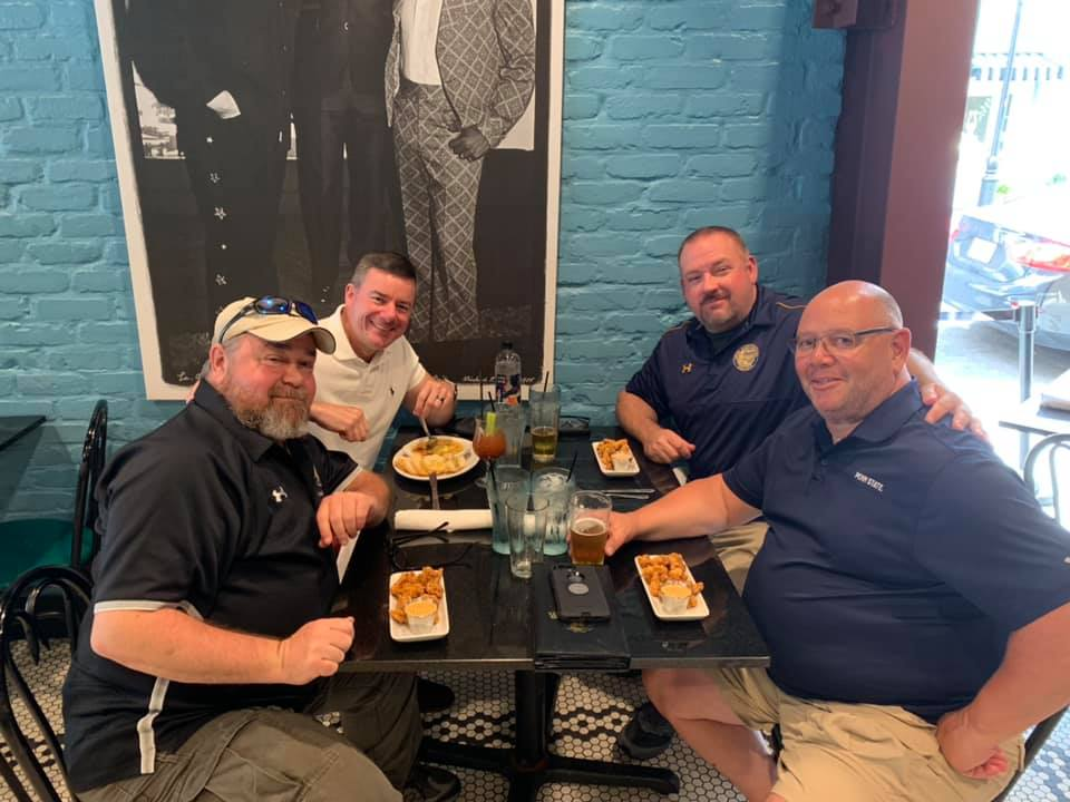 grabbing lunch at fop conference